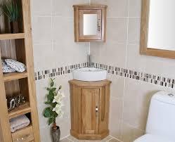 oak top corner unit basin choice