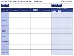 Deliverables Template Tools For Defining And Tracking Project Deliverables