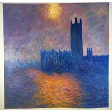 famous modern art painting houses of parliament london sun breaking through claude monet paintings on canvas