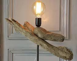 driftwood lighting. driftwood lamp mounted on lighting
