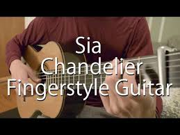 sia chandelier easy fingerstyle arrangement for guitar with tabs billy chi guitarist