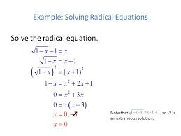 example solving radical equations