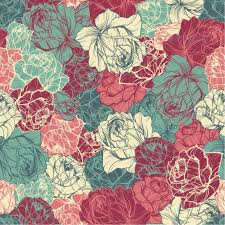 Floral Pattern Delectable Seamless Floral Pattern With Outlined Roses By Ollallya GraphicRiver