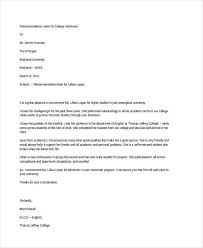 College Recommendation Letters Awesome 44 Examples Of Recommendation Letters