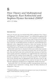 price theory and multinational oligopoly kurt rothschild and on skidelsky s keynes and other essays on skidelsky s keynes and other essays