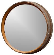 napa valley wine barrel mirror rustic wall mirrors alpine wine design outdoor finish wine barrel