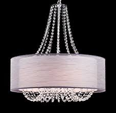 modern drum pendant lighting. yobo lighting modern drum crystal chandelier pendant chrome finish 6light fixtures i