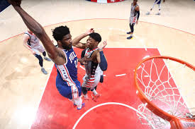 76ers center joel embiid, who sustained a knee injury in the first. Nba Recap Wizards Dominated By Embiid 76ers In 132 103 Loss Bullets Forever