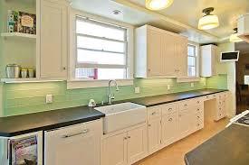 light gray glass subway tile backsplash kitchen color home design ideas special
