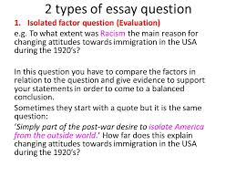 evaluation assessment essay writing ppt  2 types of essay question