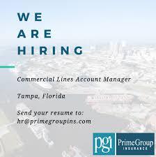 New Job Primegroup Insurance