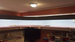 a lighting valance hiding t5 fluorescent bulbs was also installed it looked very promising as shown in this in progress view