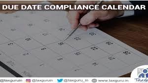 Due Date Compliance Calendar For December 2019