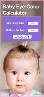 Baby Eye Chart Calculator Baby Eye Color Calculator Chart And Predictor Baby Eye