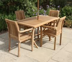 rectangular folding teak table