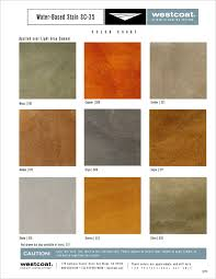 Westcoat Epoxy Color Chart Westcoat_water Based_stain Designer Epoxy Finishes Inc