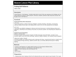 Finding Self Reliance Lesson Plan For 4th Grade Lesson Planet