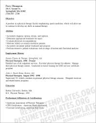 Therapist Resume Template Physical Therapist Resume Template