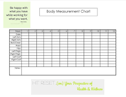 Workout Measurement Chart Free Body Measurement Tracker Jasonkellyphoto Co