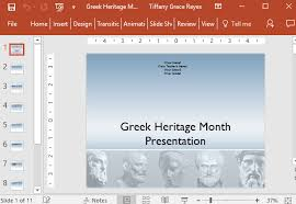 Greek Templates Greek Heritage Month Powerpoint Template