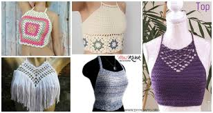 Free Crochet Halter Top Pattern Delectable Crochet Summer Halter Top Free Patterns