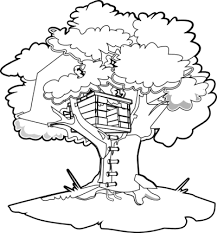 Magic Tree House Coloring Pages Magic Tree House House Colouring