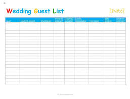 Contact List Template Excel Free Download Guest Printable Birthday