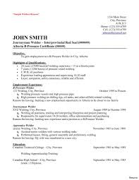 Pipefitter Resume Samples 11 Amazing Construction Examples Welders