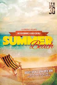 Beach Flyer Summer Beach Party Flyer Template 4 X 6 And 6 X 4 By Flyermarket