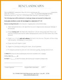 Landscape Installation Contract Template Installation Contract