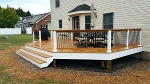 railing post too short deck attachment corner deck corner post89