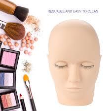 details about uk make up practice head eyelash tool face model training cosmetology mannequin