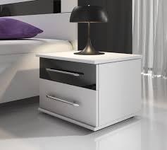 Nachtkastje Dual Wit Zwart Set Van 2 Meubella
