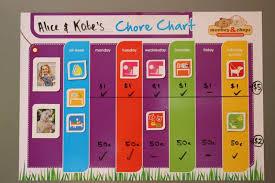 Monkey Chops Fully Magnetised Chore Chart