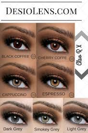 Natural Looking Color Contact Lenses Dark Eyes L