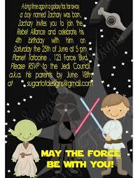 Star Wars Birthday Invitations Printable Star Wars Birthday Party Invitation Printable 12 00 Via Etsy