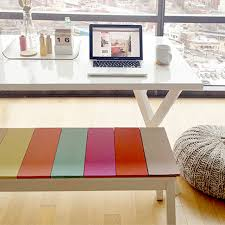 furniture hacks. colorful plank bench from likes of us furniture hacks