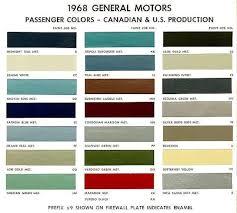 Chevy Stock Chart Behr Paint Color Chart 1968 Chevelle Exterior Paint Codes