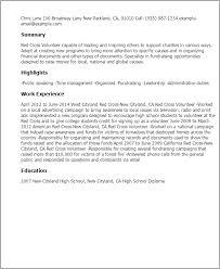 resume templates red cross volunteer sample volunteer resume