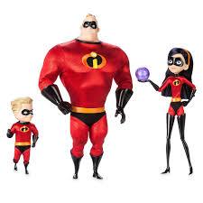 Incredibles Costume Designer Mr Incredible Violet And Dash Doll Set Disney Designer