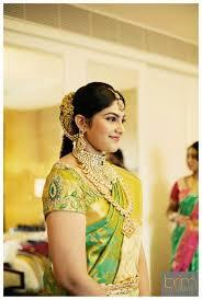 jhumkis silk kanchipuram sari braid with fresh flowers tamil bride telugu bride kannada bride hindu bride malee bride indian bridal makeup