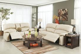 ashley furniture damacio cream reclining living room set