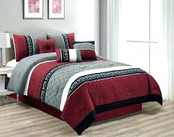 Red And Black Bed Set Red Red Black Grey Duvet Set – choobkadeh.co
