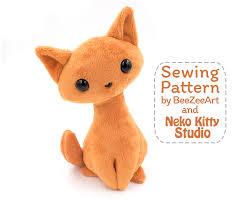 Animal Sewing Patterns Simple Sitting Kitty Cat Stuffed Animal Sewing Pattern PDF Plush Pattern