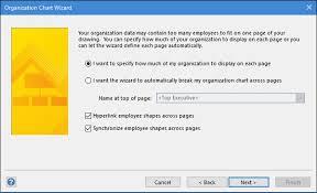 Visio Org Chart Wizard Microsoft Visio Using The Org Chart Wizard Tutorialspoint
