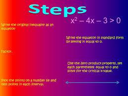 write the original inequality as an equation