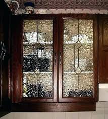 decorative glass panels inserts for kitchen cabinets leaded and stained cabinet doors