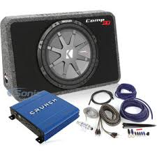 kicker 40tcwrt124 pdx 1000 2 bak82bl 40tcwrt124 pdx10002 bak82bl kicker 12 loaded subwoofer crunch amplifier and wiring kit package