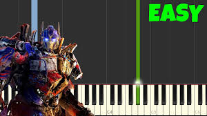 transformers sheet transformers easy piano tutorial synthesia sheet music youtube