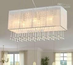fabric pendant lighting. k9 crystal lighting fixture fabric rectangle chandelier modern fashion art deco pendant light living room